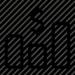 dot, graph, line, report, sale icon