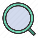 search, find, magnifier, zoom