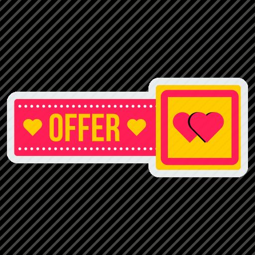 day, offer, online, sale, special, valentine, valentines icon