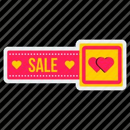 day, heart, online, sale, special, valentine, valentines icon