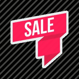 discount, label, offer, ribbon, sale, sticker, tag icon