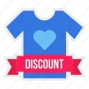 day, discount, men, offer, sale, tshirt, valentine icon