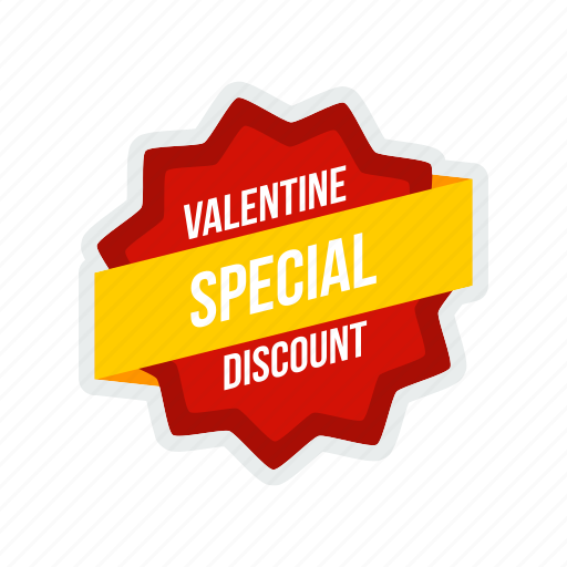 day, discount, label, offer, special, tag, valentine icon