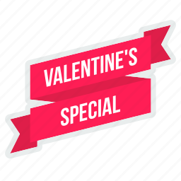 offer, ribbon, sale, special, tag, valentine icon