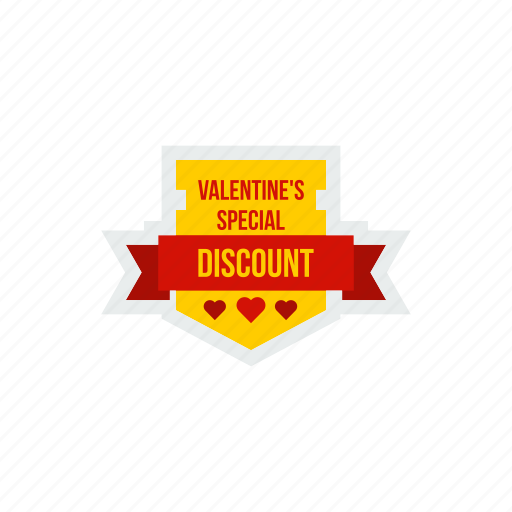 day, discount, ribbon, special, valentine, valentines icon