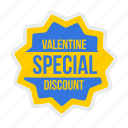 day, discount, offer, special, tag, valentine, valentines icon