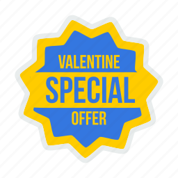 day, label, offer, special, tag, valentine, valentines icon