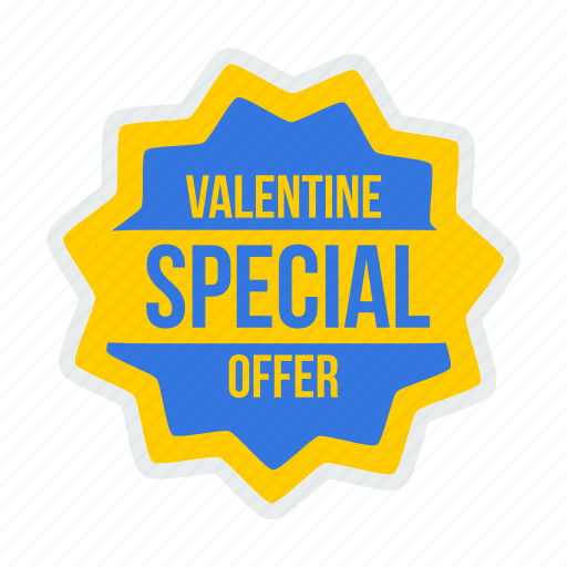 Offer, valentines, valentine, tag, label, day, special icon