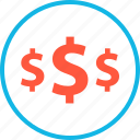 dollar, ecommerce, online, pay, shop, shopping, signs icon