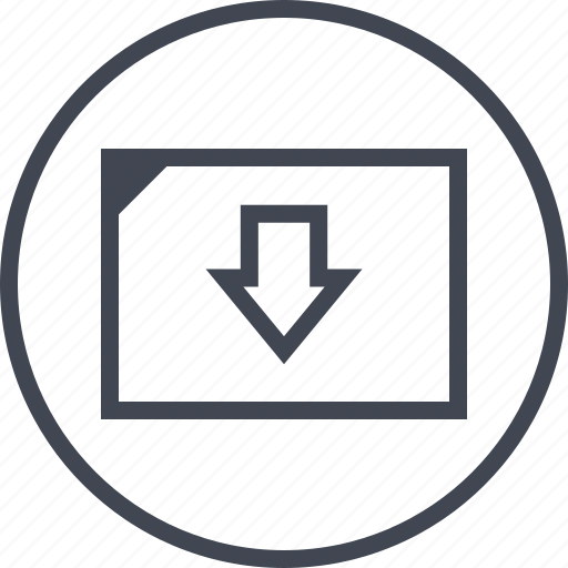 arrow, low, pointer, sales icon