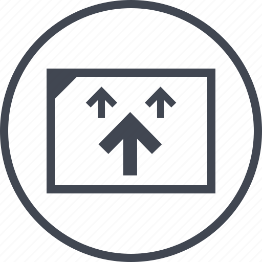 arrows, point, three, up icon
