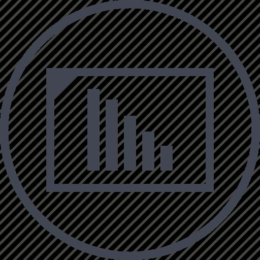data, graph, low, sales icon