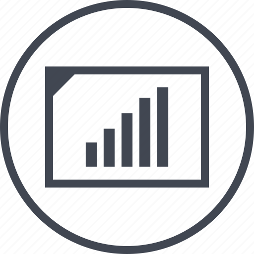 data, graph, high, sales icon