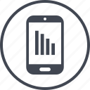 data, mobile, report icon