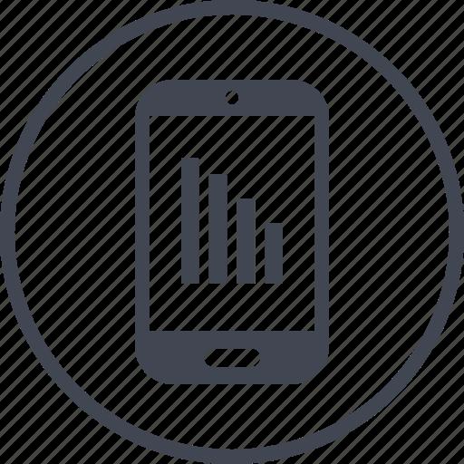 data, mobile, report icon