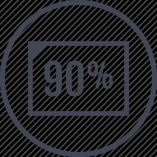 document, ninety, percent icon