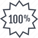 hundred, one, rate icon