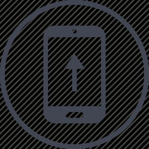 arrow, data, phone, pointer icon