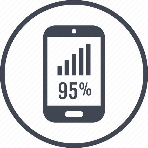 ninety, phone, rate icon