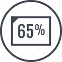 document, five, percent, sixty icon