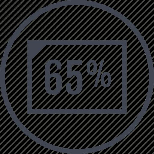 document, five, percent, sixty icon