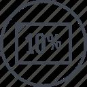 document, percentage, ten icon