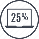 data, five, percent, twenty icon