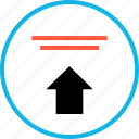 analytics, arrow, point, pointer, up, upload icon