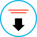 arrow, down, download, navigation, point, sign icon