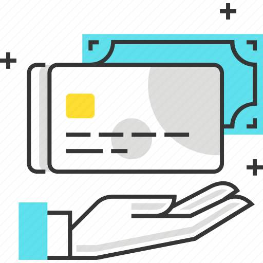card, credit, debit, hand, money, options, payment icon
