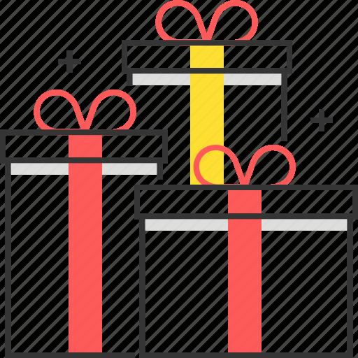 birthday, box, christmas, gift, present, ribbon, souvenir icon