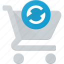 action, buy, cart, refresh, shop, store icon