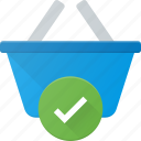 action, basket, buy, check, shop, shopping icon