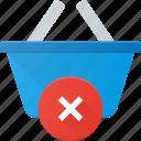 action, basket, buy, disable, error, shop, shopping icon