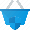 action, basket, buy, protect, security, shop, shopping icon