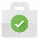 action, bag, buy, check, paper, shopping icon