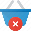 action, basket, buy, disable, error, shop, shopping icon