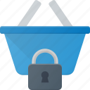 action, basket, buy, lock, shop, shopping icon