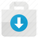 action, bag, buy, input, paper, shopping icon