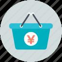 basket, online store, shopping, shopping basket, yen basket