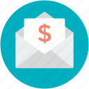 financial envelope, message, letter envelop, letter, email