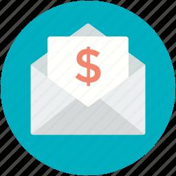 email, financial envelope, letter, letter envelop, message icon