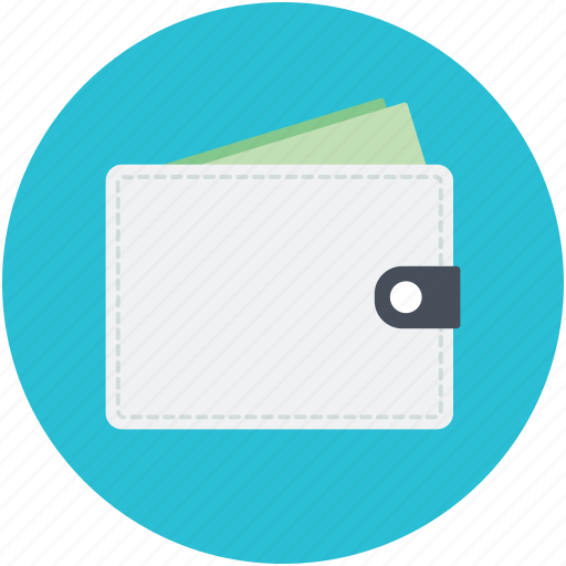 Wallet, billfold wallet, cash wallet, purse, money wallet icon