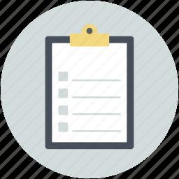 checklist, clipboard, list, paper, shopping list icon