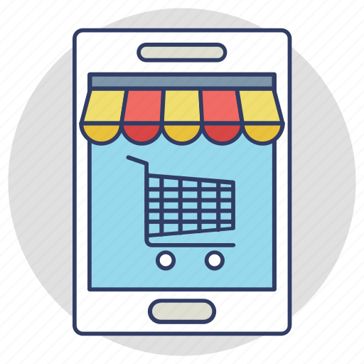 buy online, m commerce, mobile shopping, mobile shopping app, online shopping icon