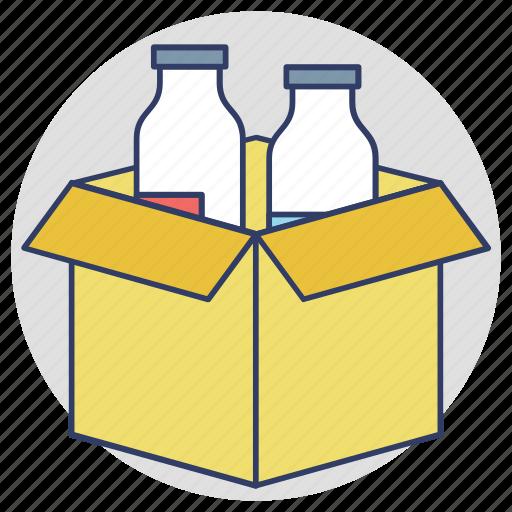 drinks carton, food package, milk bottles, packaging designs, products branding icon