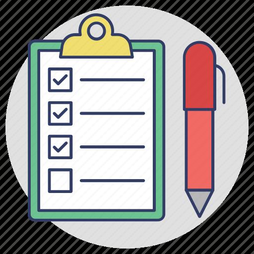 agenda list, checklist, quality notes, shopping list, wishlist icon