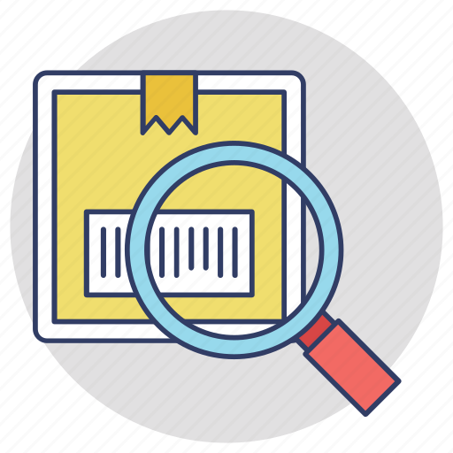 box tracking, delivery services, logistic package, order tracking, search parcel icon