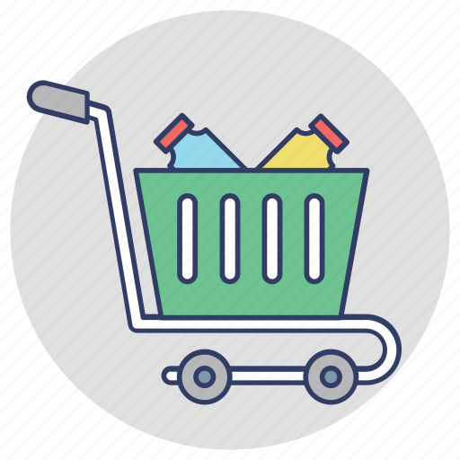 buy online, ecommerce, grocery shopping, shopping cart, shopping trolley icon