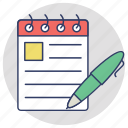 notepad, notes, signing, to do, writing pad icon